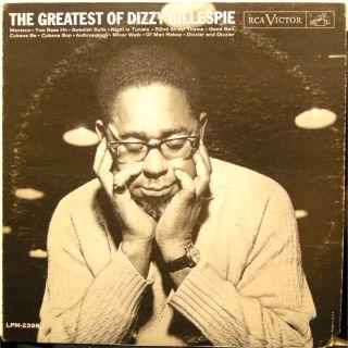 DIZZY GILLESPIE The Greatest of Dizzy Gillespie LP mono 1961 RCA LPM