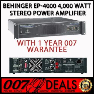 EP4000 w 1 Year Warranty 4000W DJ Power Amplifier Amp EP 4000