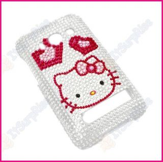 Bling Diamond Kitty Hearts Full Hard Case Cover for HTC EVO 4G Sprint