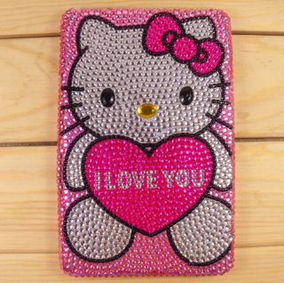 Hello Kitty Crystal Bling Diamond Cover Case for  Kindle Fire