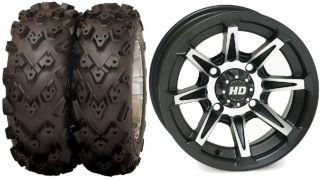 XP Ranger Sportsman STI HD2 15 Wheels 26 Black Diamond Tires