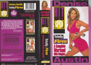 DENISE AUSTIN HIT THE SPOT TOTALLY FIRM VHS VIDEO PAL A RARE FIND