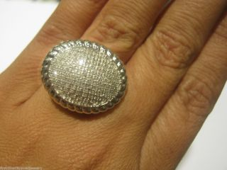 Gorgeous diamond cocktail dome ring Vintage style Pave diamonds