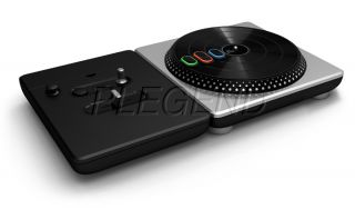 official dj hero turntable game bundle for nintendo wii condition very