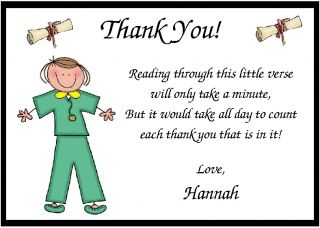 Personalized Doctor Graduation Thank You Cards