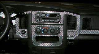 Dodge RAM 1500 2500 Interior Wood Carbon Fiber Dash Trim Kit 2003 2004