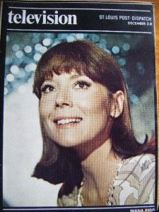 Television TV Guide Magazine Diana Rigg 1973 St Louis Post Dispatch