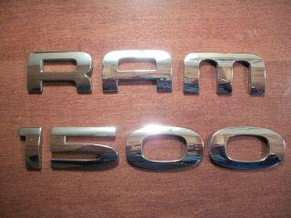 Dodge RAM 1500 Chrome Emblem 2003 2006