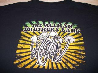 Brothers Band Magic Mushrooms Shirt Size XL Dickey Betts Licensed Rare