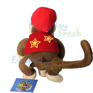 New Nintendo Super Mario Bros 7 Diddy Kong Plush Figure Doll Toy