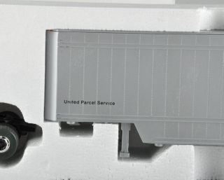 Parcel Service Diecast Doubles Model Semi Truck UP1700 w Box