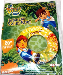 Go Diego Go Inflatable Swimming Ring 20 Pool Toys