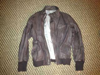 Diesel Black Gold Mens Lamb Leather Jacket