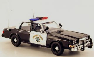 Wonderful Police modelcar Dodge Diplomat 1985 California Highway