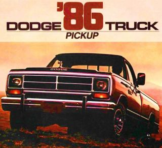 DODGE RAM PICKUP BROCHURE DODGE D100 D150 W150 D250 W250 D350 POWER