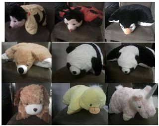 18 Large Animal Pillow Pet Bee Lady Bug Duck Panda Bear Dog