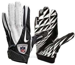 New NIKE Vapor Jet Football Receiver Skill Gloves, Black & White, Mens