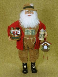 Karen Didion German Santa Christmas Figurine New 16 inch Germany