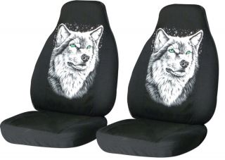 Set Jeep Wrangler 97 06 TJ Car Seat Covers Wolf Design Get Wild