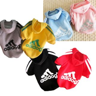 New Dog Pet Hoodie Clothes Printing Shirt Cute Hooded Warm Apparel