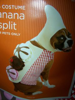 NWT Halloween Dog Costume Banana Split Medium Large Ice Cream Cherry