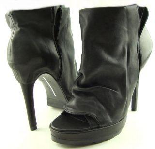 Dolce Vita Farrah Black Womens Shoes Platform Open Toe Ankle Booties 8