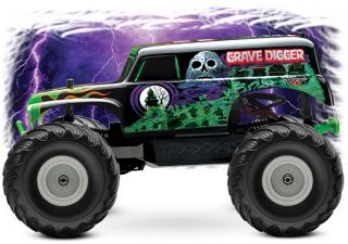 NEW TRAXXAS MONSTER JAM GRAVE DIGGER 1/16 SCALE 2WD RTR 7202A