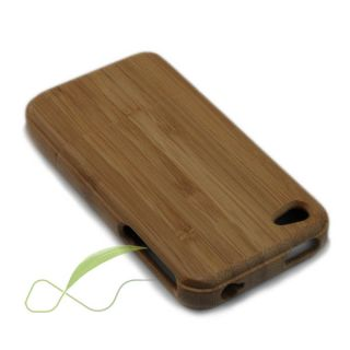 Genuine Natural Bamboo Wood Hard Shell Premium Cover Case for iPhone 4