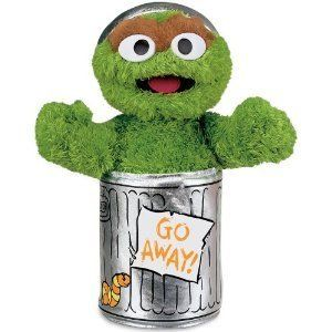 Grouch Sesame Street Plush Toy Doll Gund for Young Sesame Street Fans