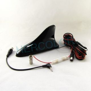 Car Digital TV Antenna Amplifier + Booster Black Shark