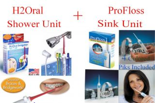 Dental Oral Irrigator Piks Shower Unit Plus Sink Unit