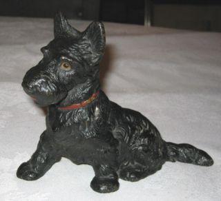 Best  Antique Hubley Scotty Doorstop Cast Iron Dog Statue Sculpture