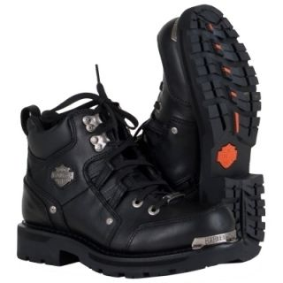 Harley Davidson Tracey Boots D84496 Black Leather Womens New w Tags
