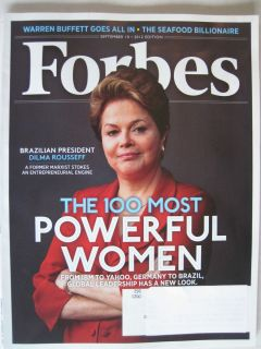 Magazine September 2012 Brazils DILMA ROUSSEFF 100 MOST POWERFUL WOMEN