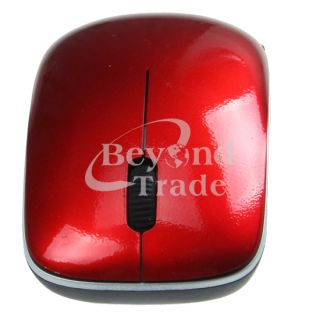Red 2 4GHz Slim Mini Computer Desktop Laptop PC Wireless Mouse Black
