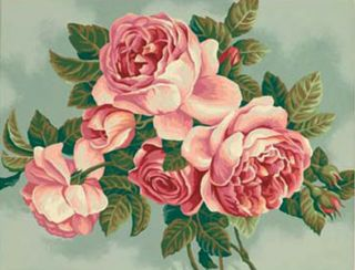 Dimensions Paintworks Paint by Number Kit 14 x 11 HEIRLOOM ROSES Sale