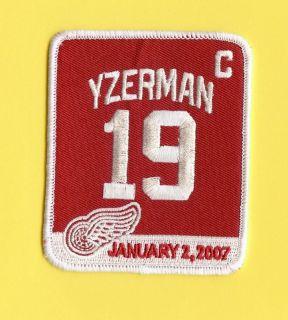Detroit Red Wings NHL Hockey Yzerman Retirement Patch