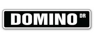 Domino Street Sign Game Boardgame Board Signs Gift Play Dominoes