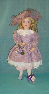Ashton Drake Galleries Gathering Violets Porcelain Doll