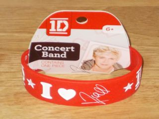 One Direction 1D I Love Niall Concert Band Rubber Bracelet
