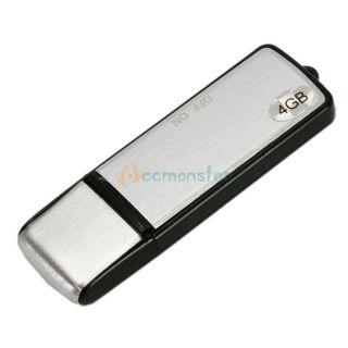 New 4GB Mini Digital Voice Recorder U Disk Silver Black