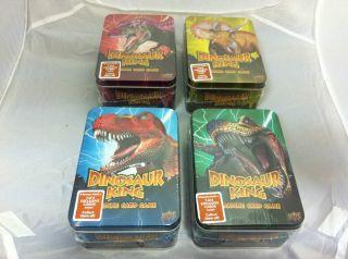 Dinosaur King Trading Card Game RARE Collector Tin Various Colours