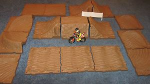 Track Dirt Bike Track Die Cast Dirt Bike MX Track Toy MXS Race Track