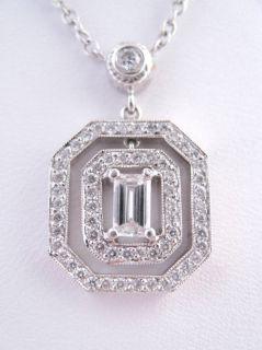 Penny Preville White Gold Deco Diamond Necklace New $4730