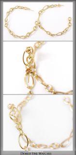 Beautiful 18K Yellow Gold Very Large Chain Link Hoop Earrings