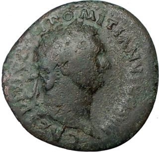 Domitian 81AD Authentic Genuine Ancient Roman Coin Minerva Wisdom