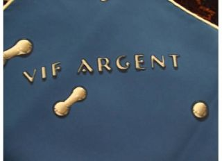 Argent Blue Silk Scarf 90cm Square Signed Dimitri Tag Attached