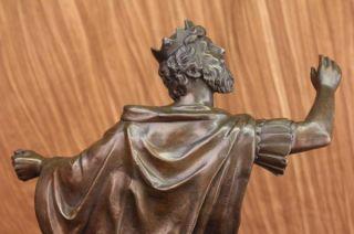 Signed Original Dino DeCarlo Man of Ancient Royalty Bronze Sculpture