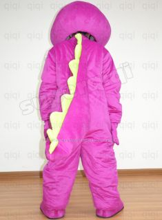 Barney Dragon Dinosaur Mascot Costume Adult Size Outfit