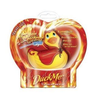 Red Devil Vibrating Rubber Duck Travel Massager NIB I Rub My Duckie
